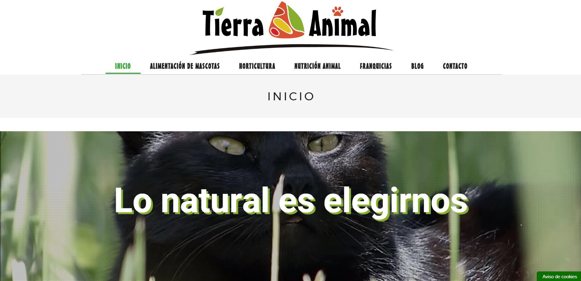 La franquicia Tierra Animal presenta su nueva página web